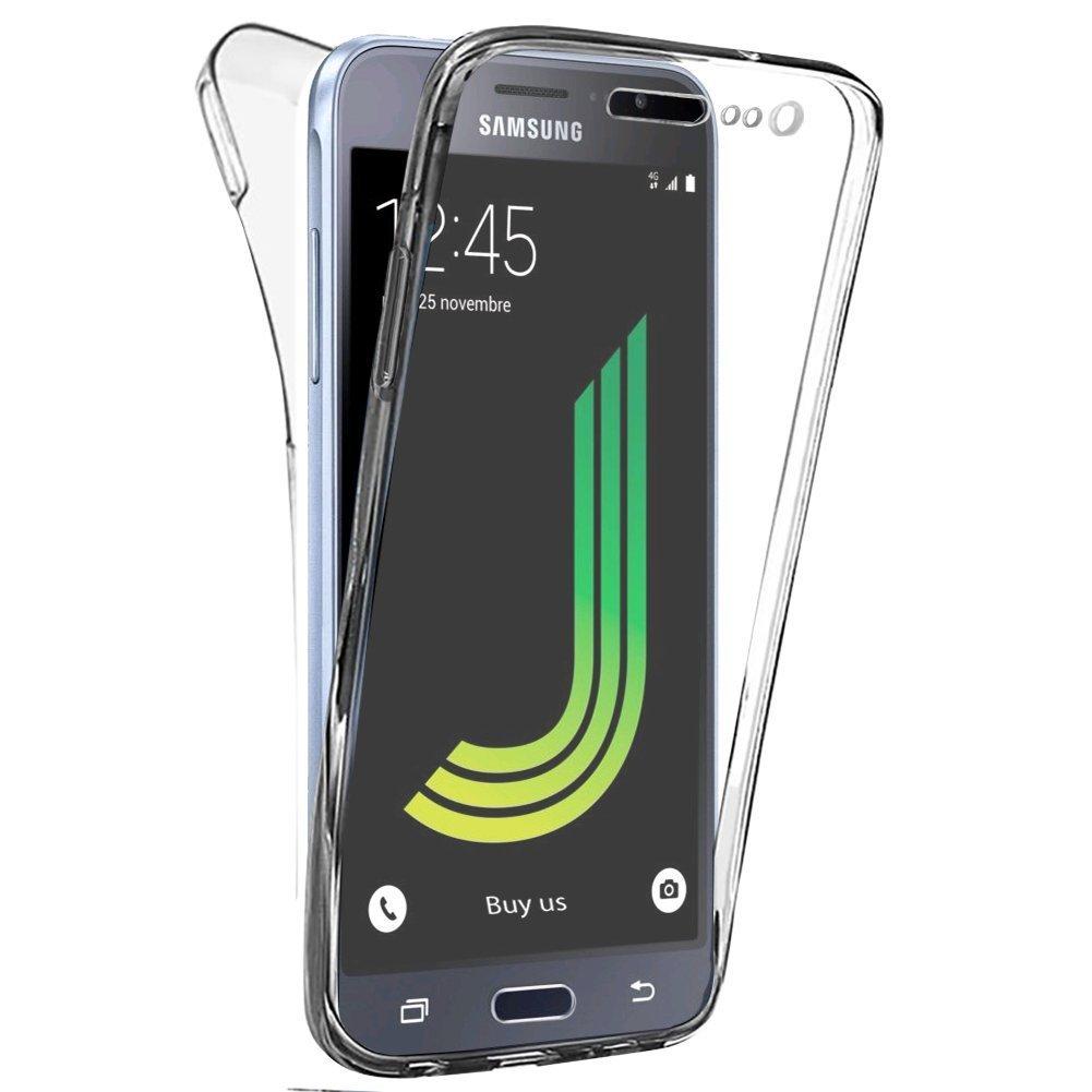 Coque Silicone Gel pour Samsung Galaxy J3 2017 Housse Etui Intégrale 360
