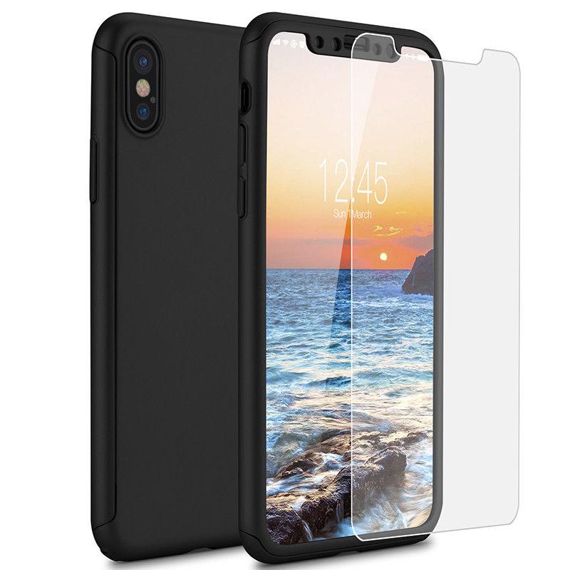 Coque Intégrale Pour IPhone X 10 + Verre Trempé Housse Etui
