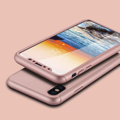 Coque-Integrale-360-Pour-IPhone-X-10-Verre-Trempe-Housse-Etui