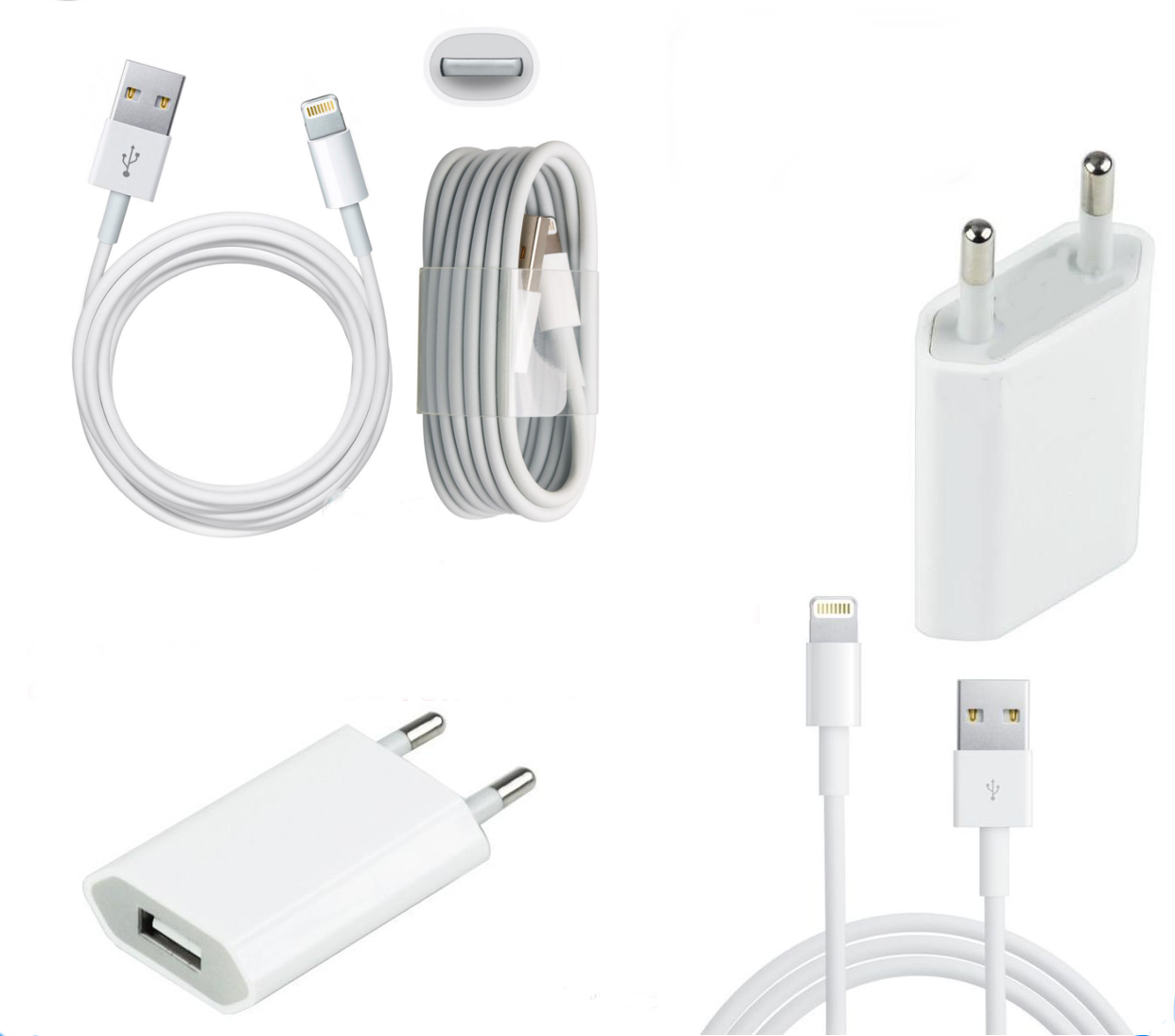 chargeur secteur cable usb pour iphone 5 5s se ebay. Black Bedroom Furniture Sets. Home Design Ideas