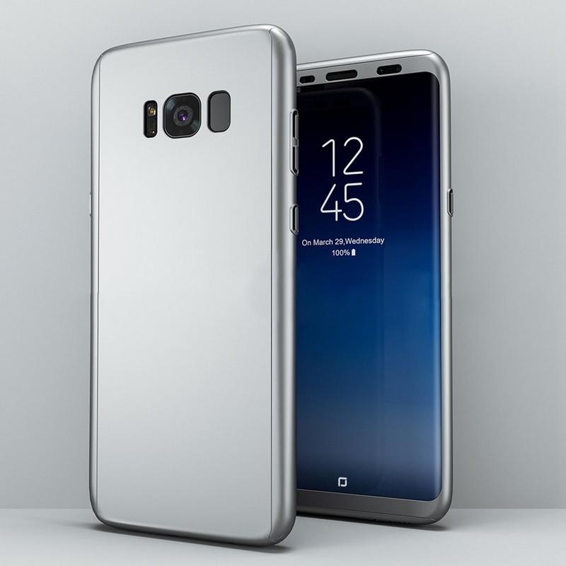 Coque Intégrale 360 Pour Samsung Note 8 Couleur Argent