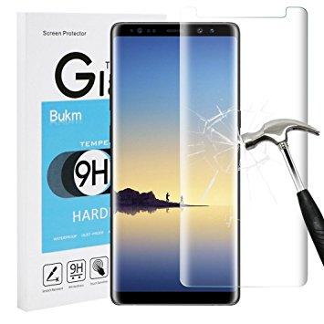 Verre Trempé Incurvé pour Samsung Note 8 Transparent Haute Résistance