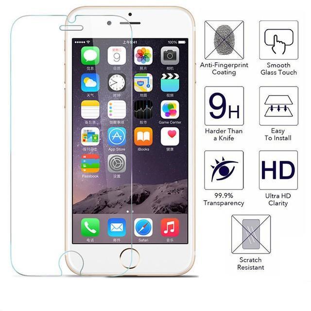 PACK X2 Verre Trempé Incurvé pour IPhone 7 Plus Transparent Haute Résistance