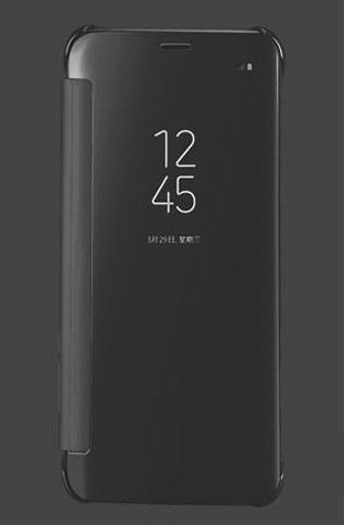 Housse Etui pour Samsung Galaxy Note 8 Protection Folio Clear View Rabat Anti-choc Noir