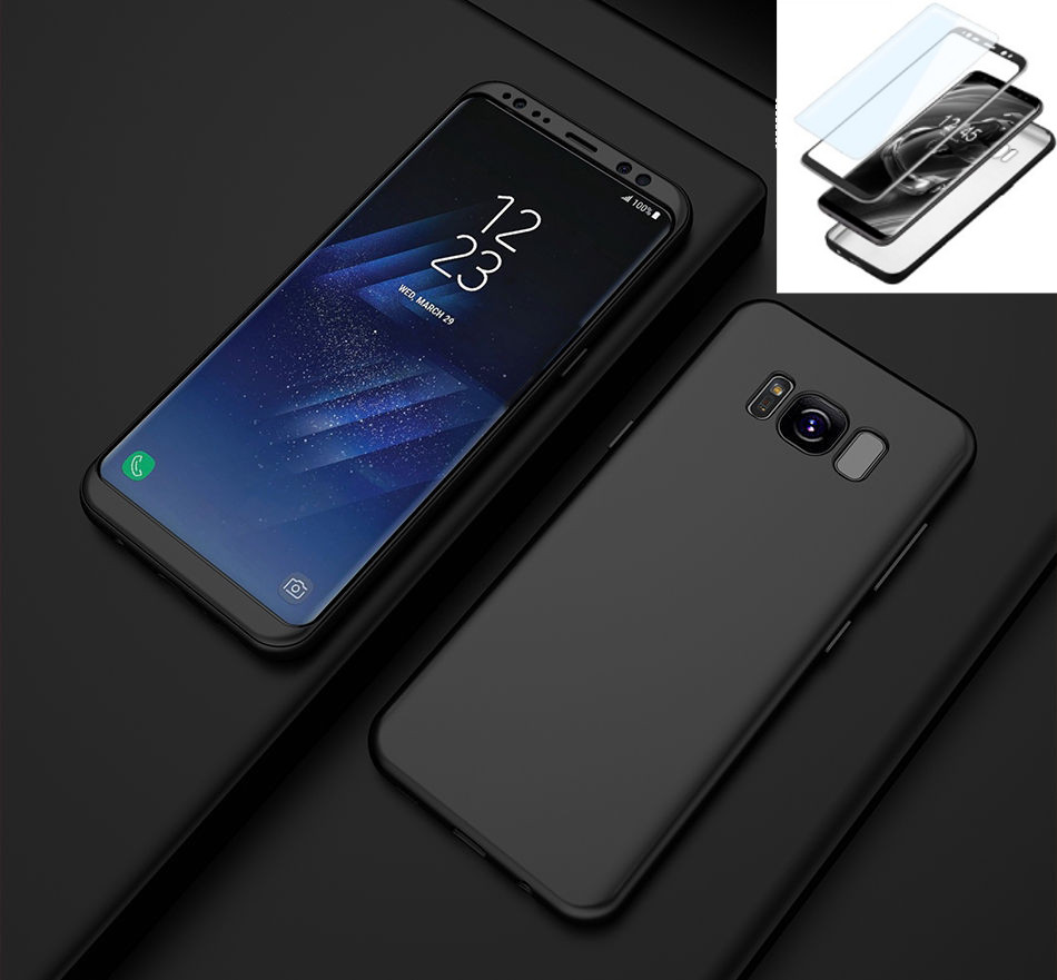 Coque Integrale 360 Samsung Galaxy S10e / Lite Couleur Noir + Film de Protection Ecran