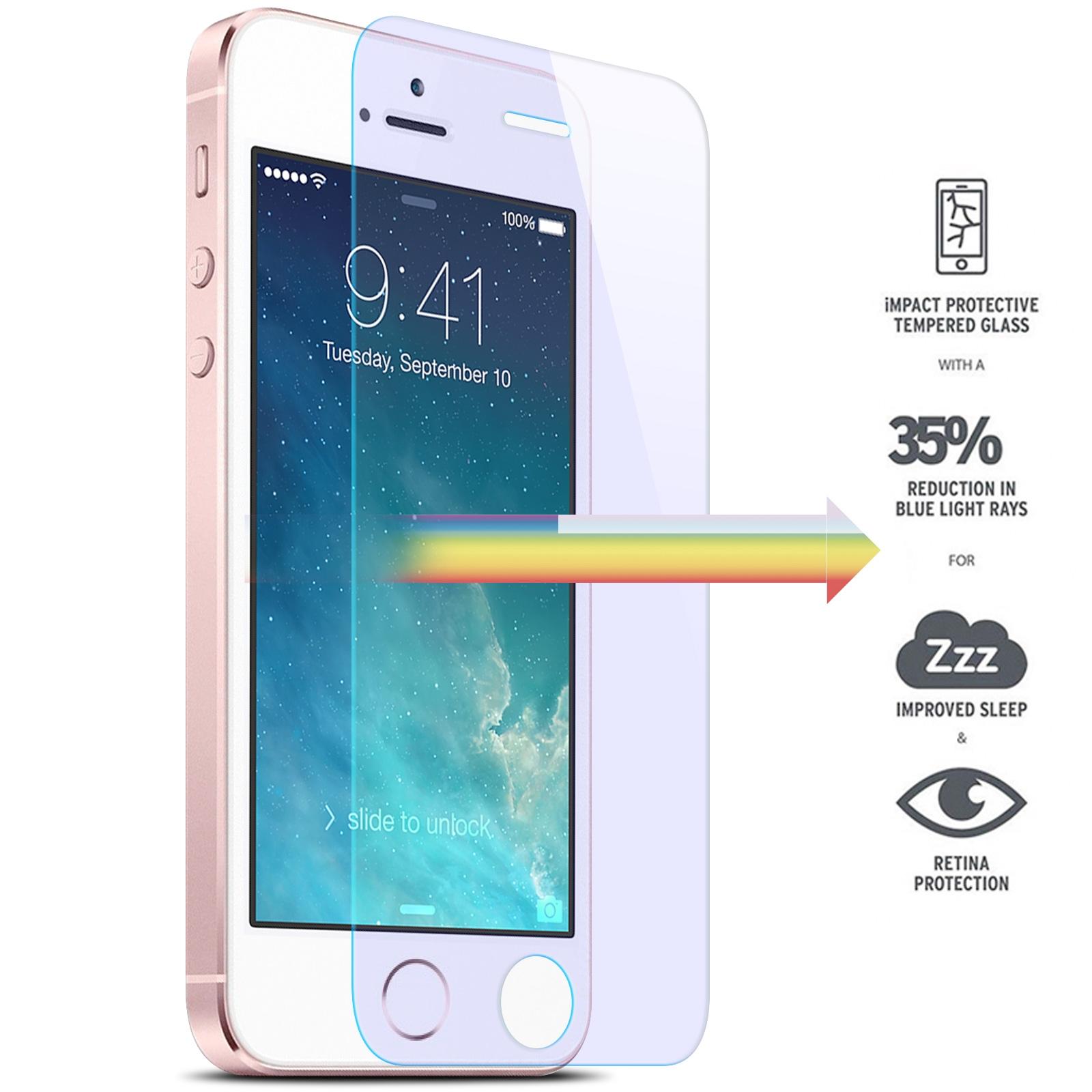 Protection écran pour iPhone 5 / 5S / SE, Verre Trempé Ultra Clair et Résistant Film Protecteur D\'écran en Verre Tempéré, Haute Transparence et Ultra Slim Dureté 9H