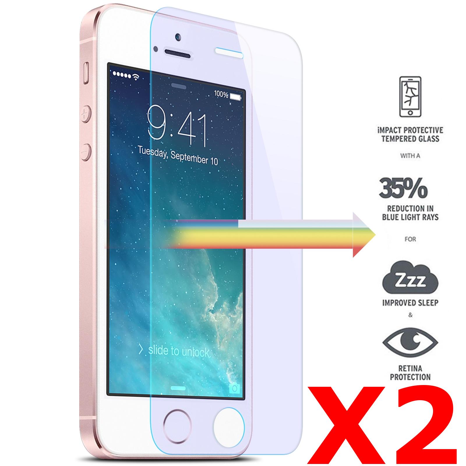 X2 Protection écran pour iPhone 5 / 5S / SE, Verre Trempé Ultra Clair et Résistant Film Protecteur D\'écran en Verre Tempéré, Haute Transparence et Ultra Slim Dureté 9H X2