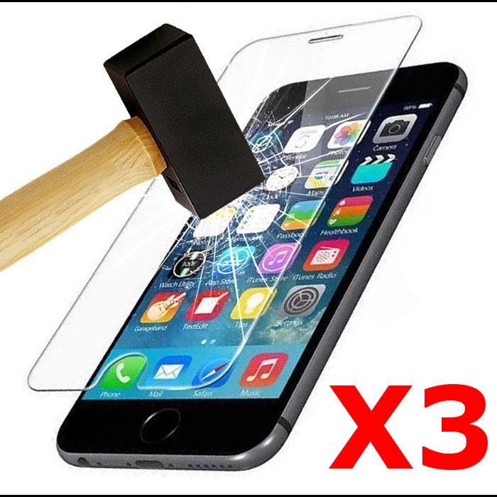 X3 Protection écran pour iPhone 7 / 8, Verre Trempé Ultra Clair et Résistant Film Protecteur D\'écran en Verre Tempéré, Haute Transparence et Ultra Slim Dureté 9H X3
