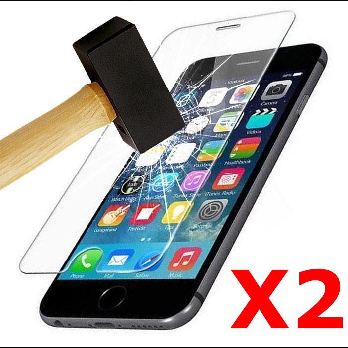 X2 Protection écran pour iPhone 7 / 8, Verre Trempé Ultra Clair et Résistant Film Protecteur D\'écran en Verre Tempéré, Haute Transparence et Ultra Slim Dureté 9H X2