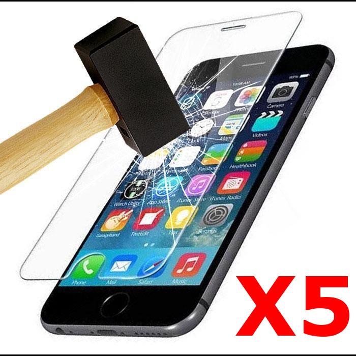 X5 Protection écran pour iPhone 7 / 8, Verre Trempé Ultra Clair et Résistant Film Protecteur D\'écran en Verre Tempéré, Haute Transparence et Ultra Slim Dureté 9H X5