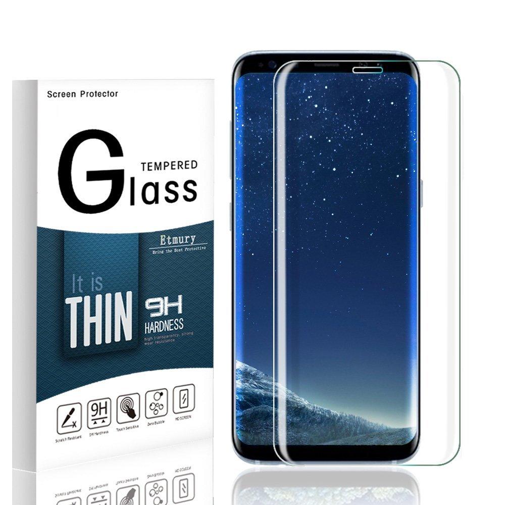 Protection écran Curve pour Samsung Galaxy S8 Plus , Verre Trempé Incurvé Ultra Clair et Résistant Film Protecteur D\'écran en Verre Tempéré, Haute Transparence et Ultra Slim Dureté 9H
