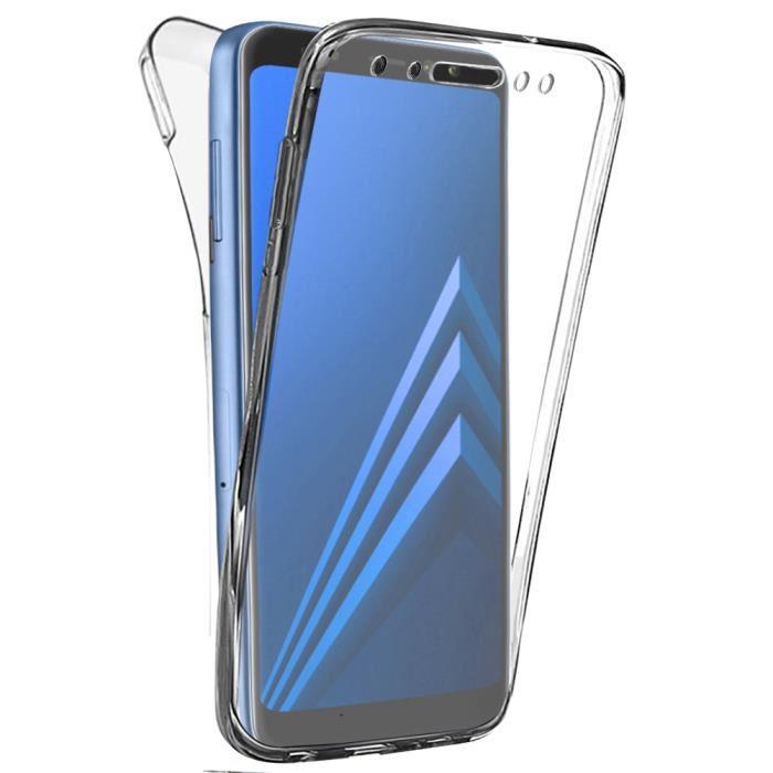 Coque Gel 360 Integrale pour Samsung Galaxy A8 (2018) [Résistant Aux Rayures]