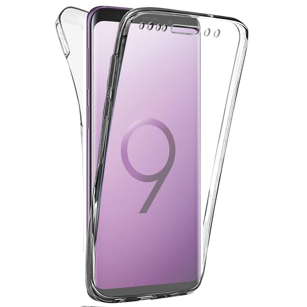 Coque Gel 360 Integrale pour Samsung Galaxy S9 Plus [Résistant Aux Rayures]