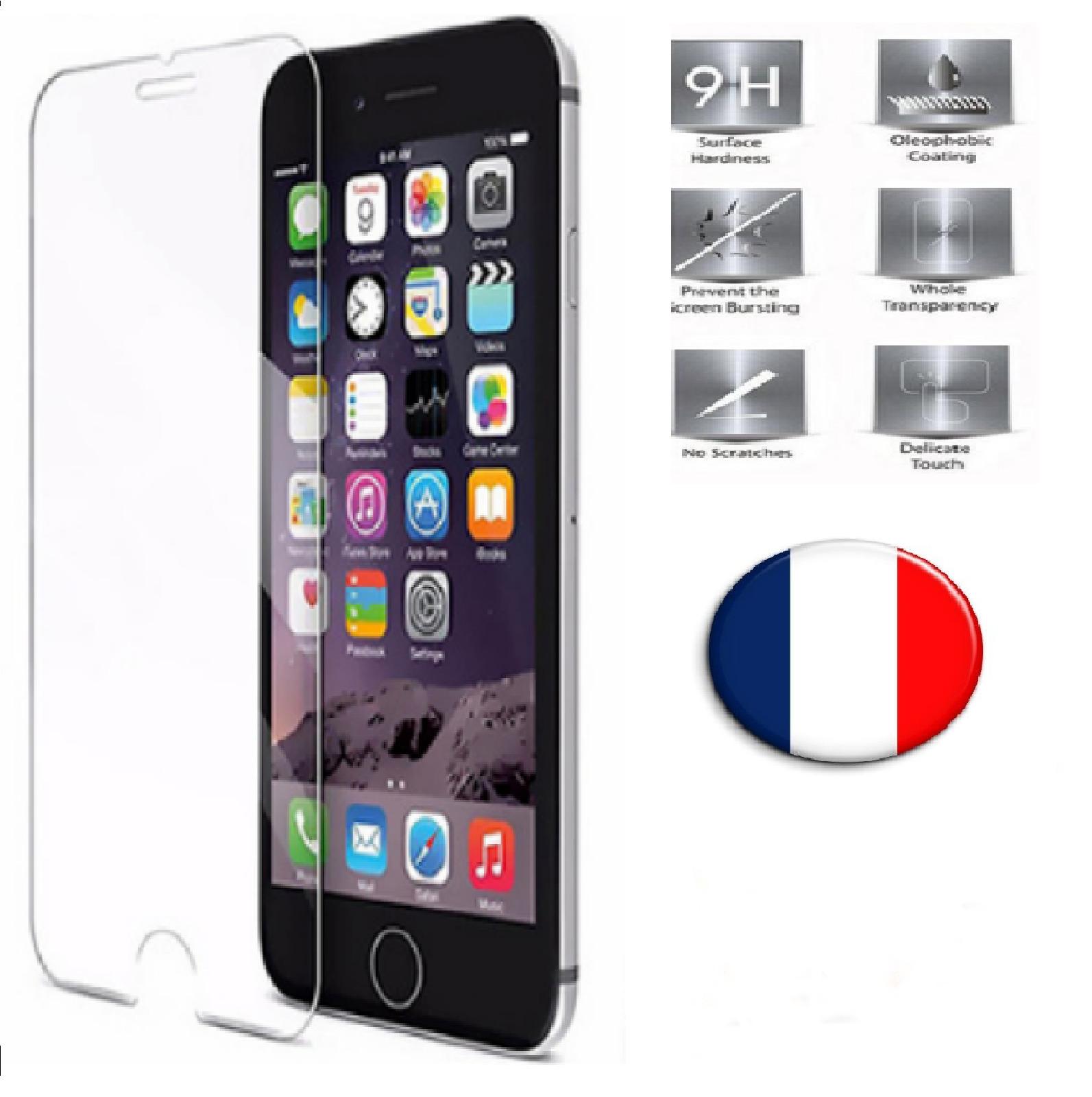 Verre Trempé iPhone 6 / 6S Film Protection en Verre trempé écran Protecteur Vitre Dureté 9H 0.25mm HD Ultra Transparent