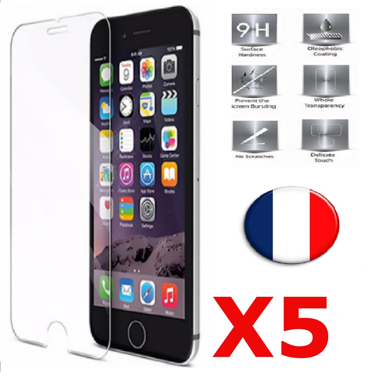 X5 Verre Trempé iPhone 6 / 6S Film Protection en Verre trempé écran Protecteur Vitre Dureté 9H 0.25mm HD Ultra Transparent X5