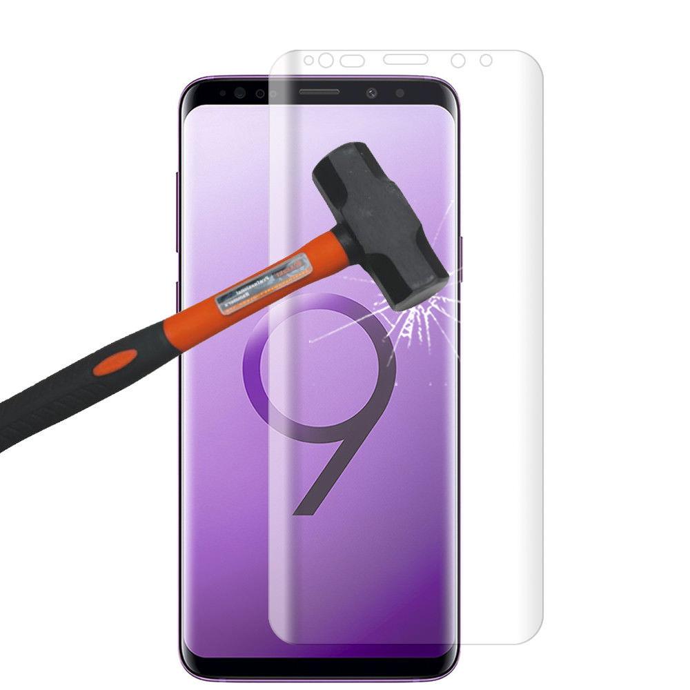 Vitre de Protection pour Samsung Galaxy S9 Plus Ecran film Verre Trempé incurvé Haute Résistance Anti Choc