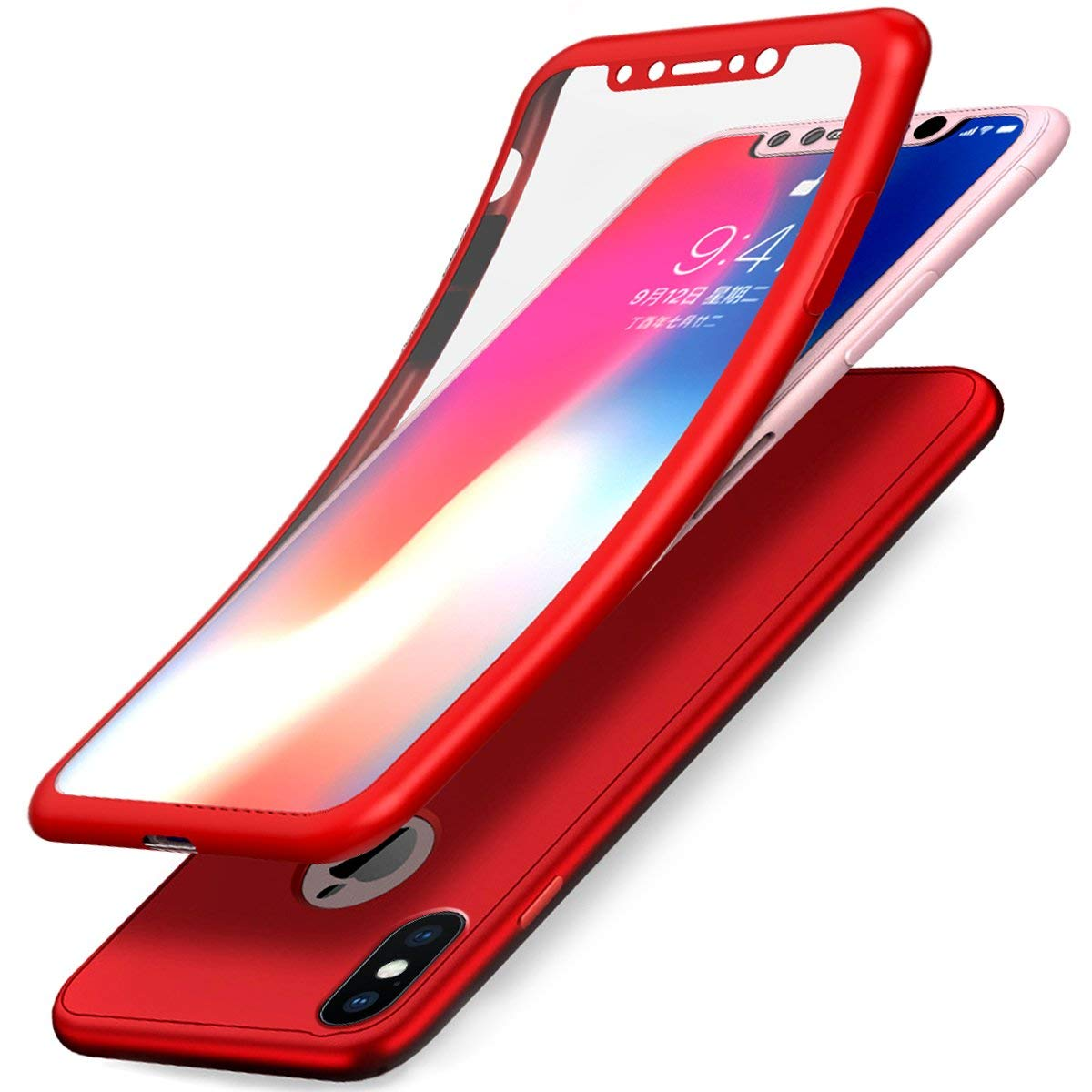 coque anti choc rouge iphone 8