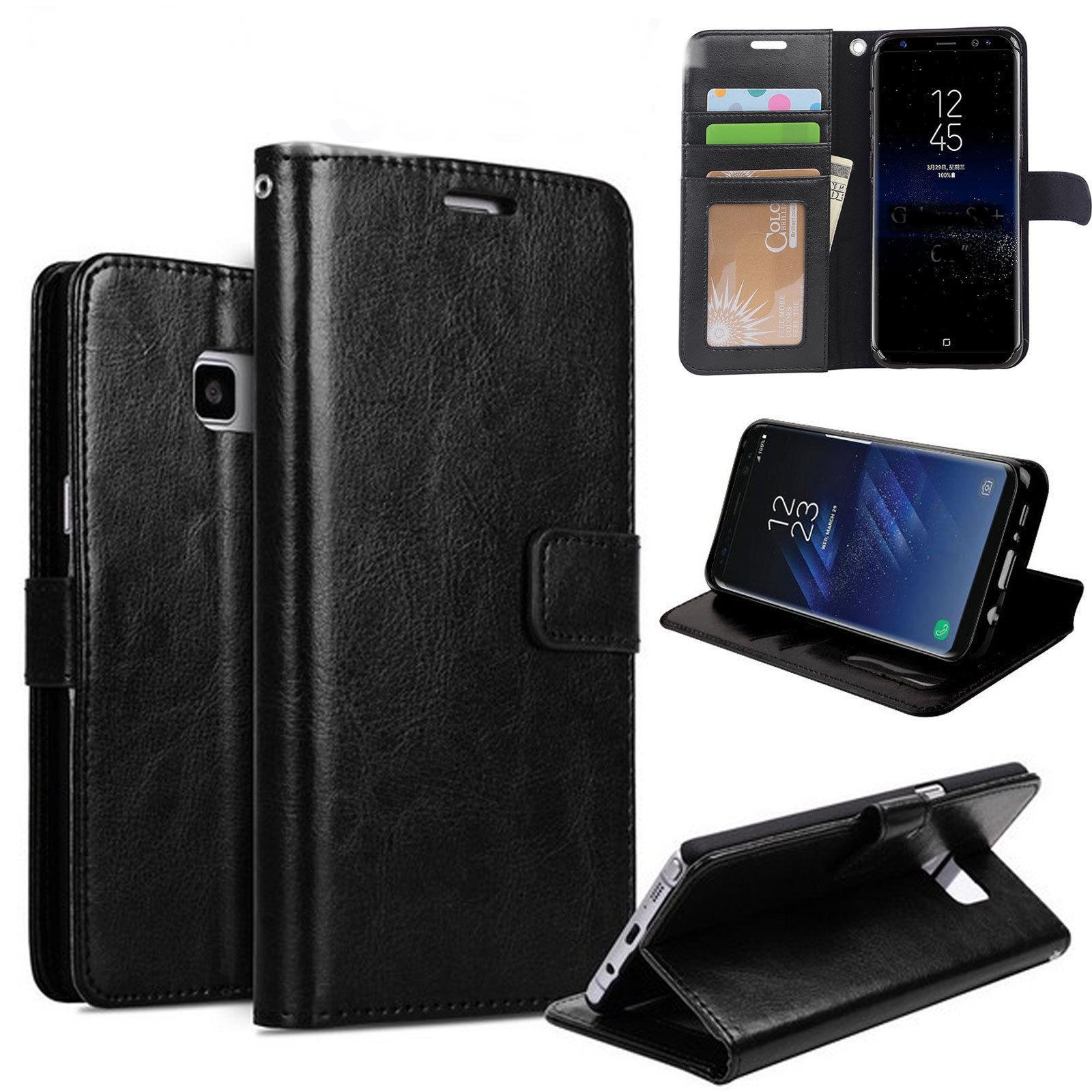Housse Etui Portefeuille pour Samsung Galaxy S9 Plus Protection Optimale Couleur Noir