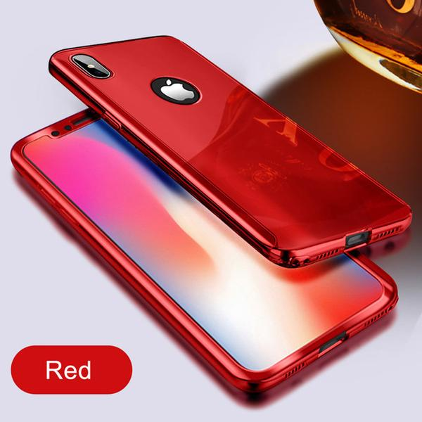 coque iphone 8 miroir rouge