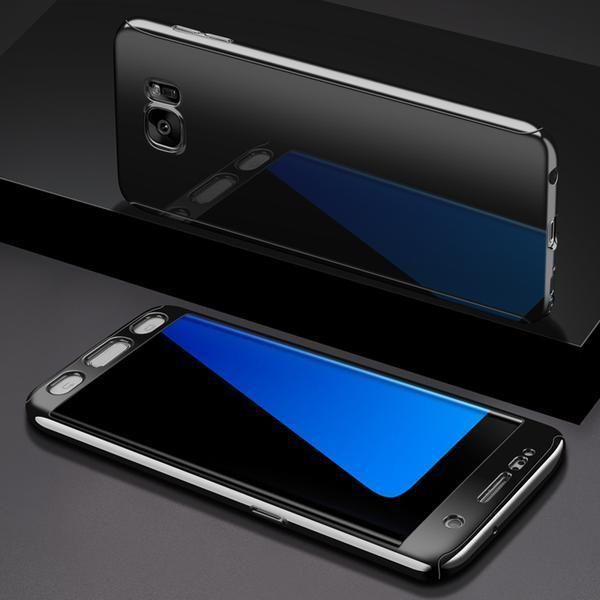 Coque Intégrale pour Samsung Galaxy S9 Plus Miroir Noir + Film de Protection Anti chocs et Rayures
