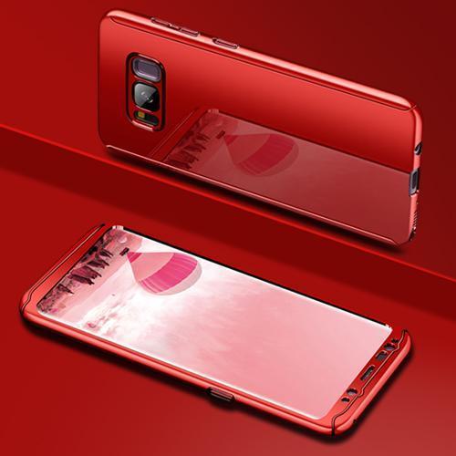 Coque Intégrale pour Samsung Galaxy S7 Edge Miroir Rouge + Film de Protection Anti chocs et Rayures
