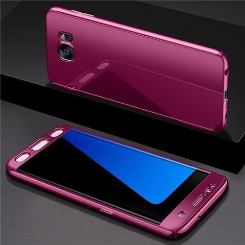 Coque Intégrale pour Samsung Galaxy S9 Miroir Fushia + Film de Protection Anti chocs et Rayures