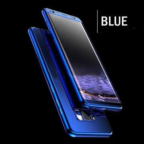 Coque Intégrale pour Samsung Galaxy S10 Miroir Bleu + Film de Protection Anti chocs et Rayures  Little Boutik®