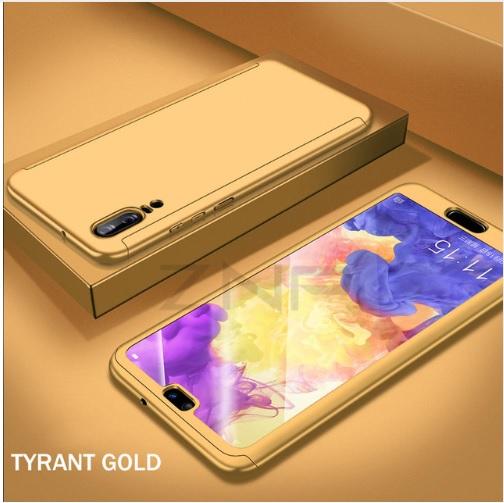 Coque Full 360 Hybride Or + Verre Trempé pour Huawei P20 Lite