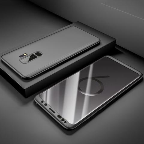 Coque Full 360 Hybride Noire + Film de Protection pour Samsung Galaxy Note 8