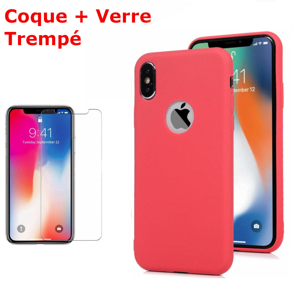 iphone x souple coque anti-rayures