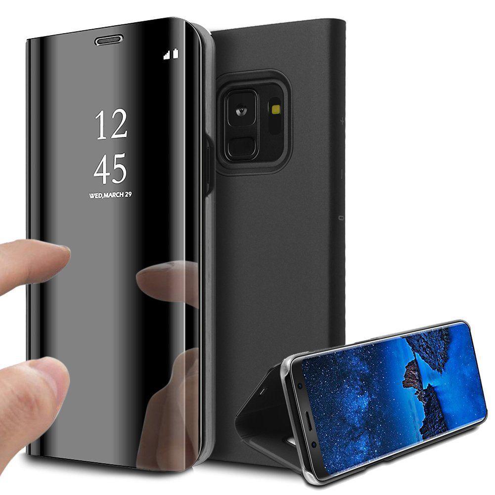 pour Samsung Galaxy Note 9 Clear View Etui à Rabat Cover Flip Case Housse Translucide Miroir Antichoc Noir