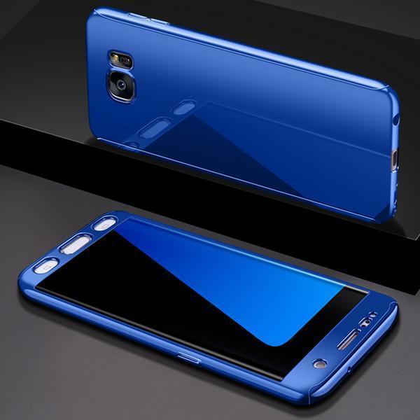 Coque Bleu Pour Samsung Galaxy S10e Protection Intégrale 360 Miroir + Film de Protection