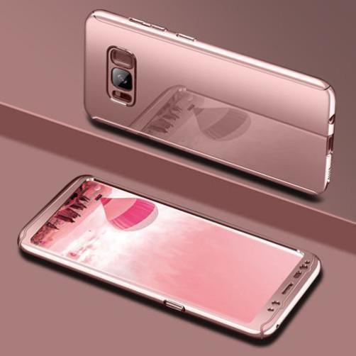 Coque Rose Pour Samsung Galaxy S10 Plus Protection Intégrale 360 Miroir + Film de Protection  Little Boutik®