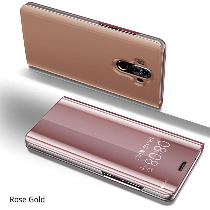 Coque Rabat Miroir Clear View Pour Samsung Galaxy A40 Rose