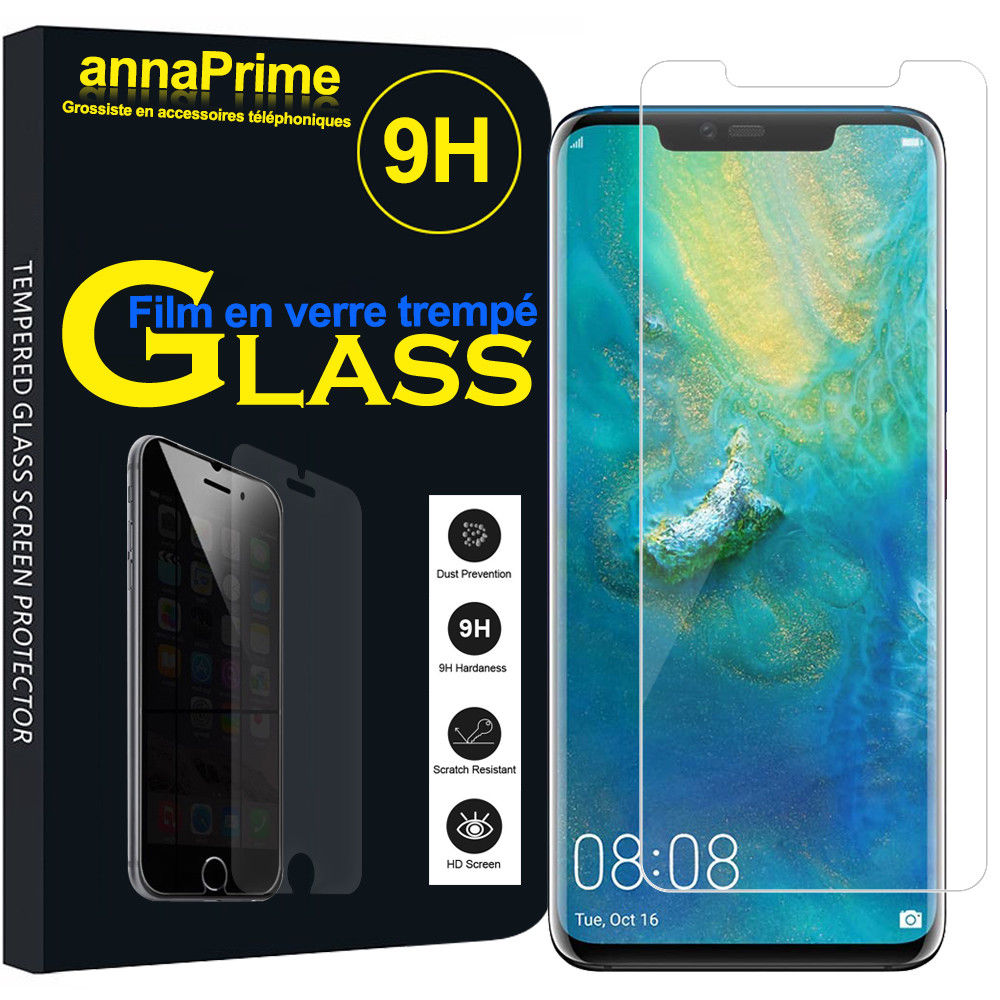 Verre trempé Huawei Mate 20 Couverture Complète Protection Ecran Protecteur d\'écran Ultra Résistant