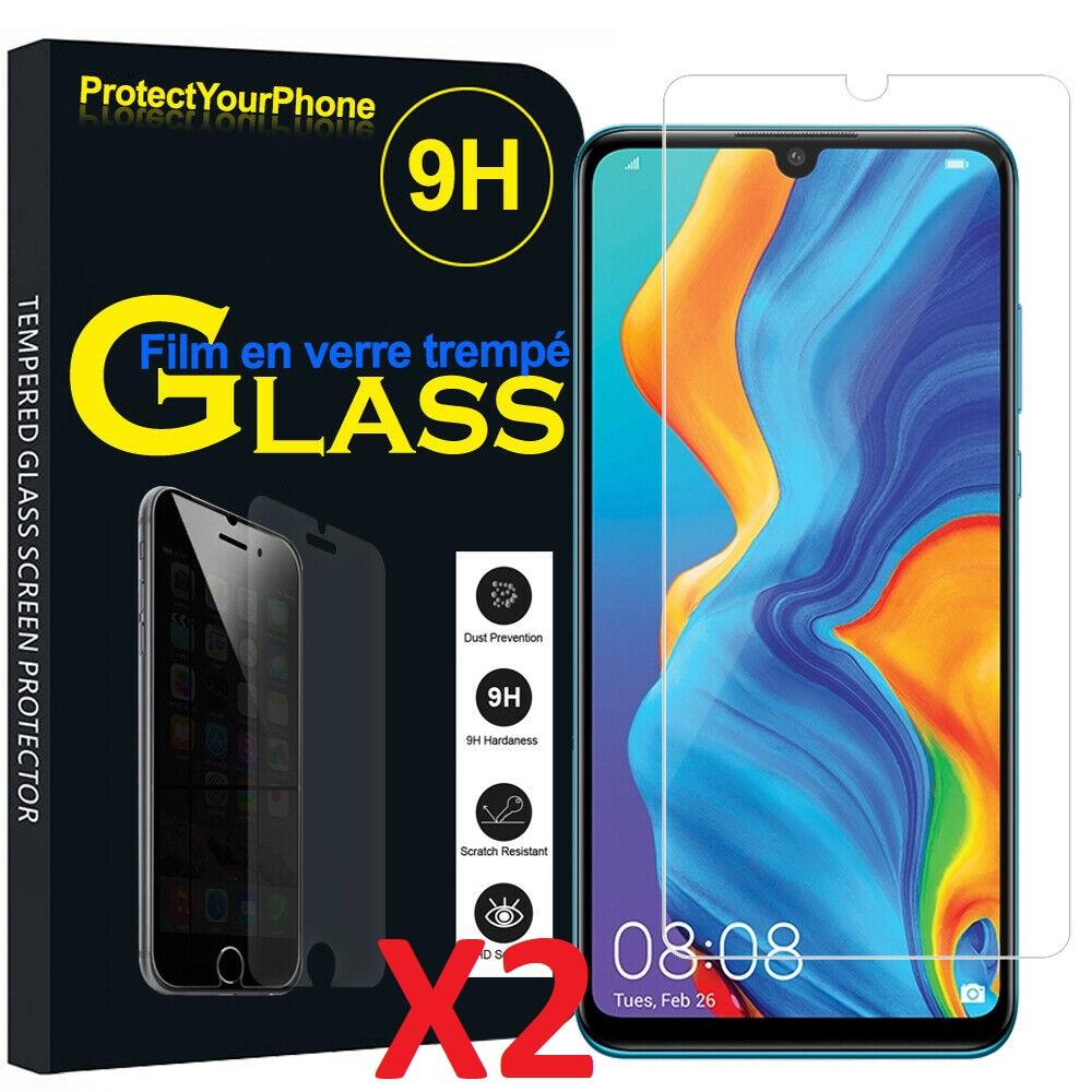 X2 Verre trempé huawei P30 Lite Couverture Complète Protection Ecran Protecteur d\'écran Ultra Résistant X2