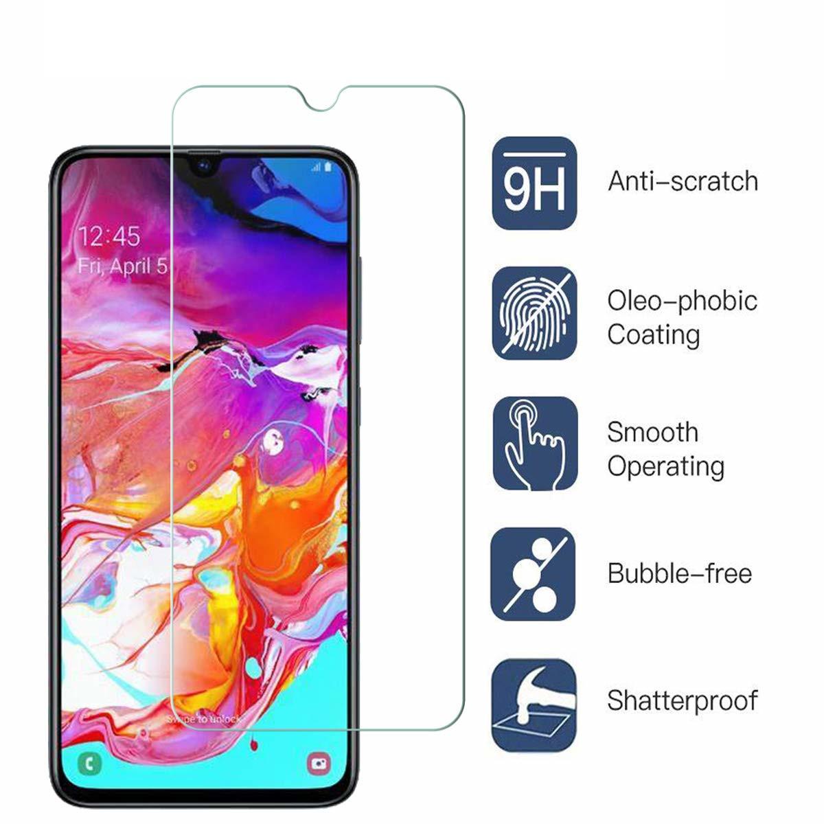 Film en Verre trempé Indice de dureté 9H Transparent Pour Samsung Galaxy A70