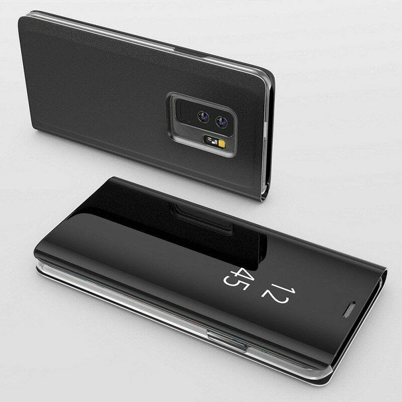 Coque Rabat Miroir Clear View Pour Samsung Galaxy A40 Noir