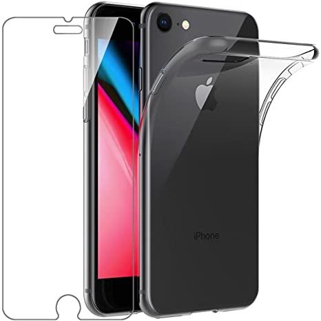 Coque Silicone transparente + Verre Trempe  pour iPhone 7 Plus / iPhone 8 Plus Little Boutik®
