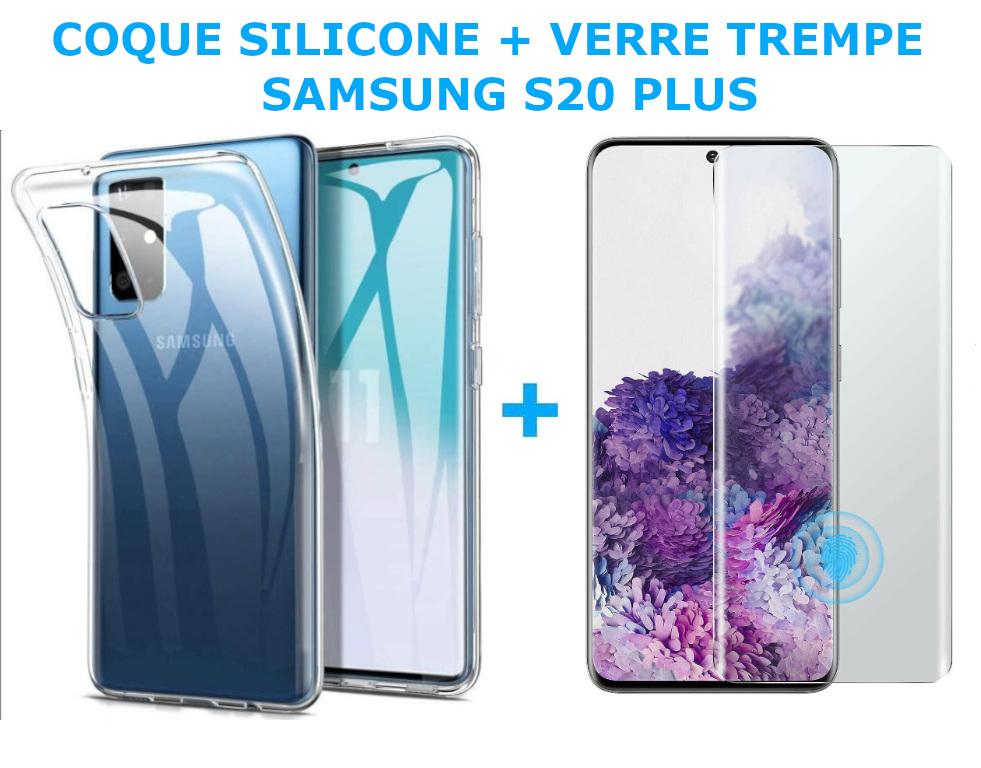 COQUE SILICONE + VERRE TREMPE POUR SAMSUNG S20 PLUS Little Boutik®