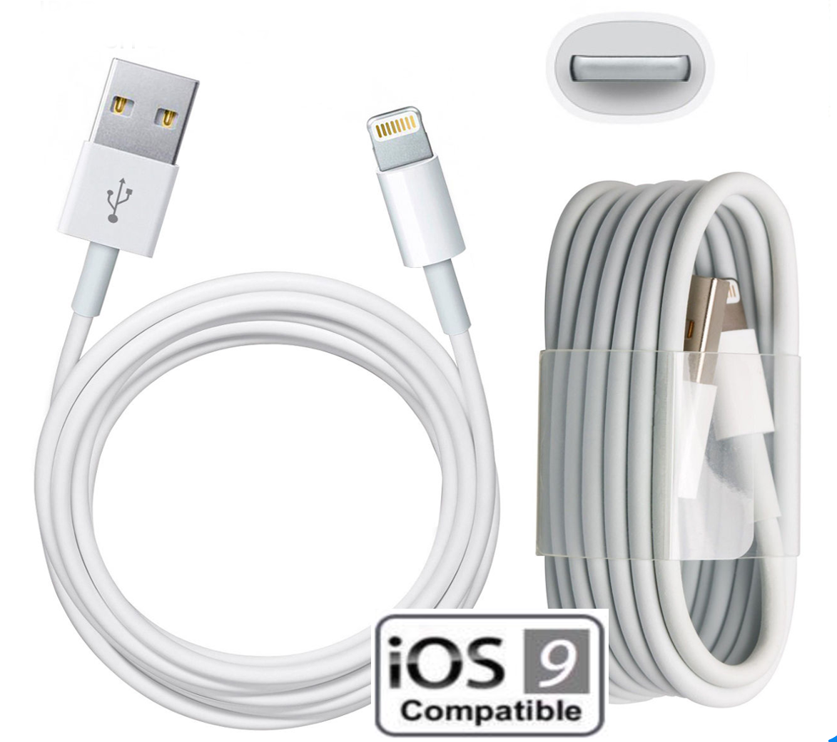 Cable USB Pour Apple IPhone 6 / 6S / 6Plus/ 6SPlus BLANC 1M