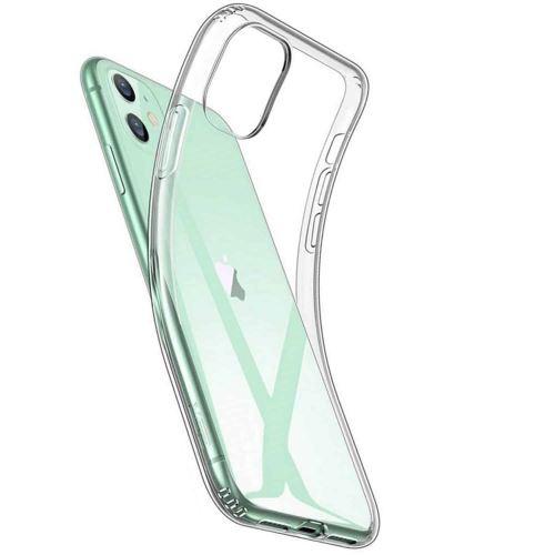 Coque Silicone pour iPhone 11 Etui de Protection Transparent Antichoc Little Boutik®