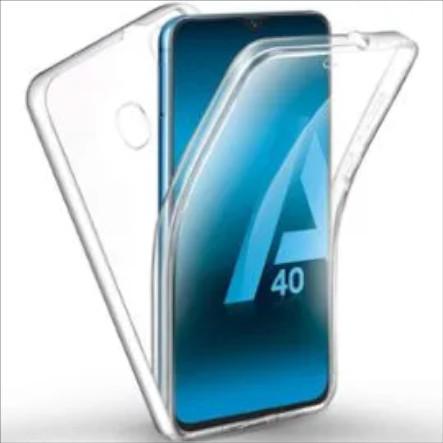 Coque Silicone 360 pour Samsung A40 Etui de Protection integrale Little Boutik®