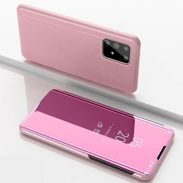 Coque Pour Samsung A41 Etui Housse Miroir Rabat Rose Little Boutik®