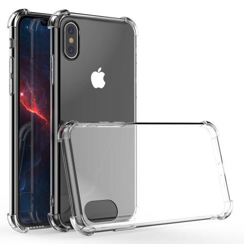 Coque Silicone pour iPhone X / Xs Etui de Protection Transparent Antichoc avec Quatre Coins Renforces Little Boutik®