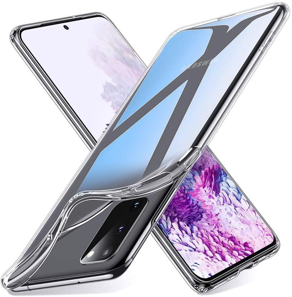 Coque Silicone pour Samsung S20 Etui de Protection Transparent Antichoc Little Boutik®