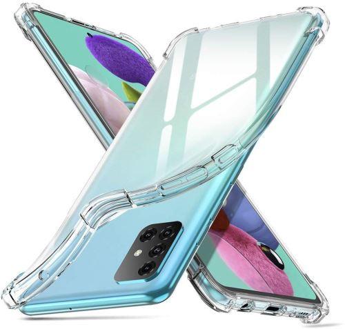 Coque Silicone pour Samsung A71 Etui de Protection Transparent Antichoc avec Quatre Coins Renforces Little Boutik®