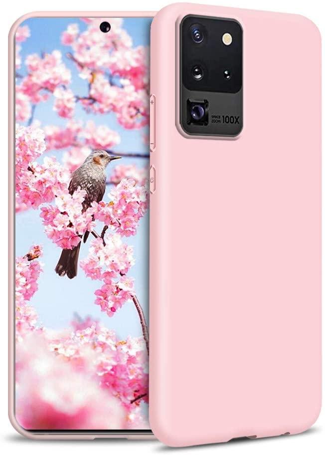 Coque Silicone Pour Samsung S20 Plus Couleur Rose Haute Protection Little Boutik®