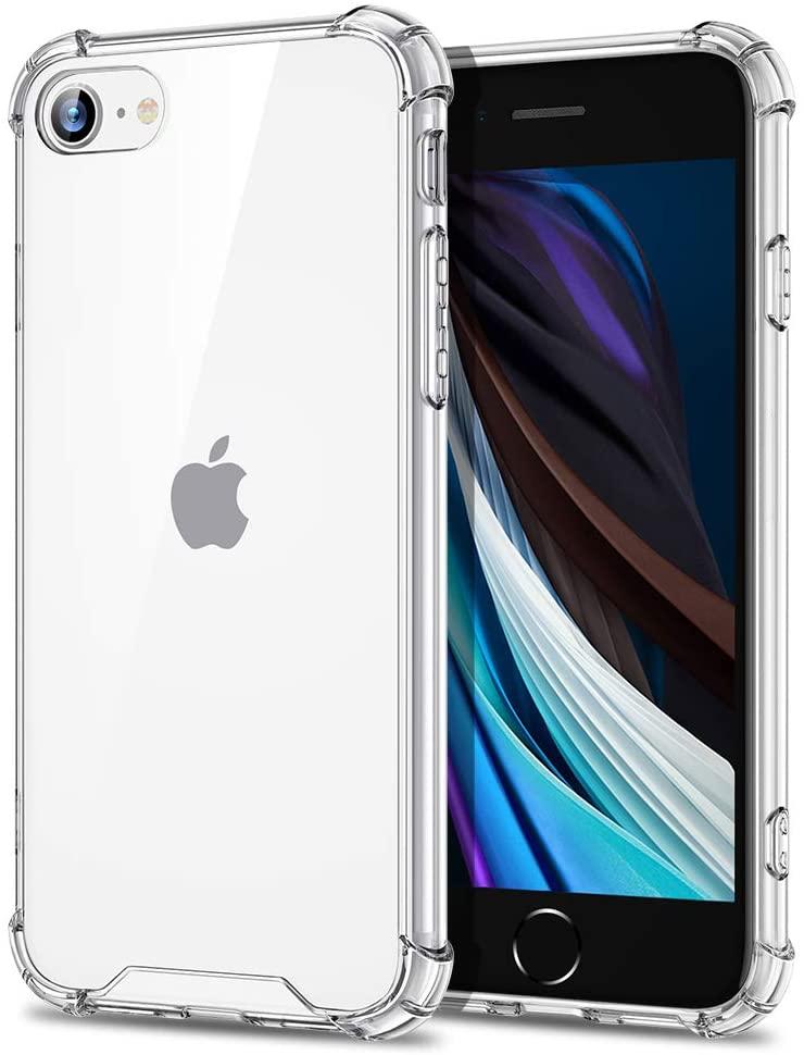 Coque Silicone pour iPhone 7 / 8 Etui de Protection Transparent Antichoc avec Quatre Coins Renforces Little Boutik®
