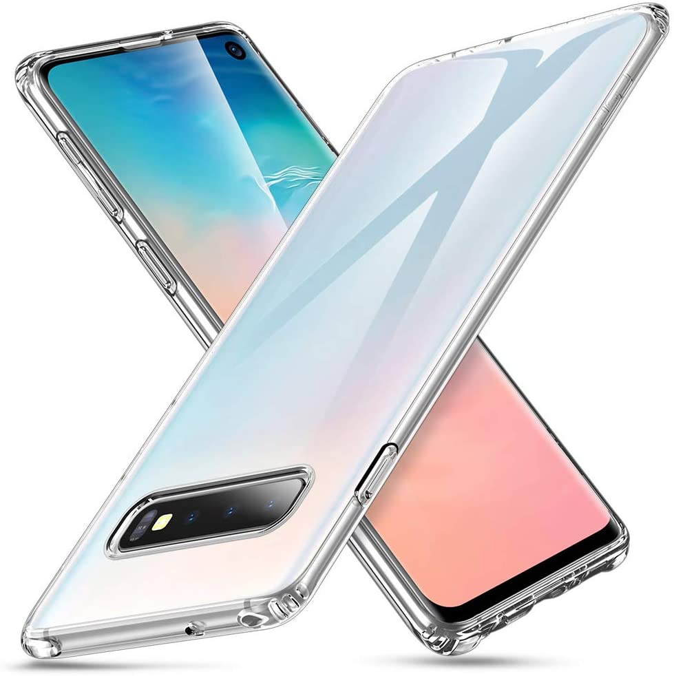 Coque Silicone pour Samsung S10 Etui de Protection Transparent Antichoc Little Boutik®
